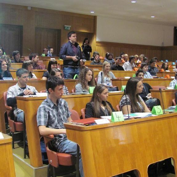 Debattiergruppe im Europa-Parlament, 2010, Foto J. Š.
